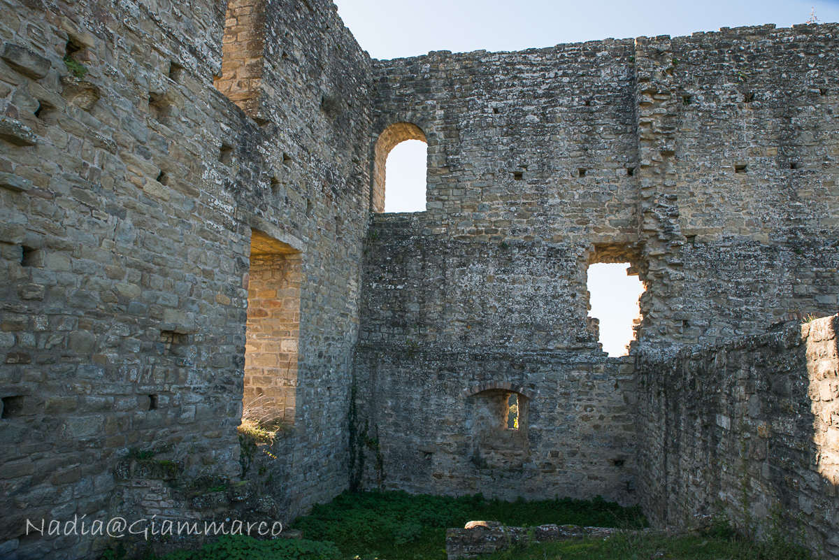 Le ampie finestre dell'appartamento di Matilde di Canossa.